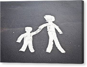 Parent And Child Marking Canvas Print by Tom Gowanlock