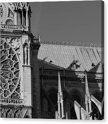 Paris Ornate Building Canvas Print by Cheryl Miller