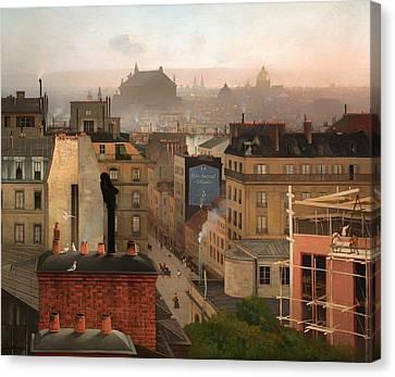 Paris 1887 Canvas Print by Mountain Dreams