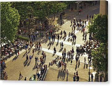 Canvas Print featuring the photograph Paris Afternoon by John Hansen