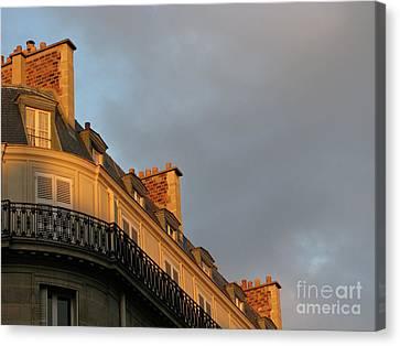 Paris At Sunset Canvas Print by Ann Horn