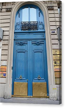 Paris Blue Doors - Paris Romantic Blue Doors - Paris Dreamy Blue Door Art - Parisian Blue Doors Art  Canvas Print
