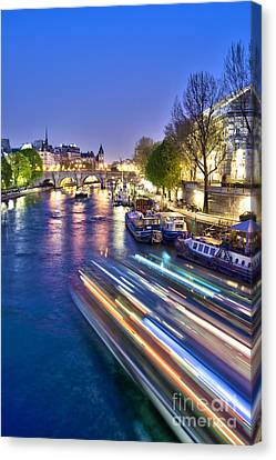 Paris Blues Canvas Print by Delphimages Photo Creations