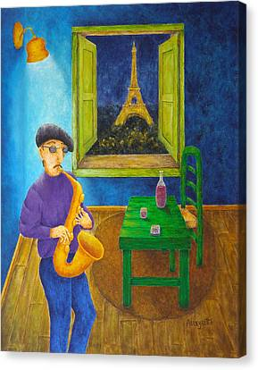 Paris Blues Canvas Print by Pamela Allegretto