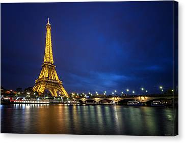 Paris Blues Canvas Print