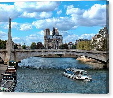 Paris Bridges Canvas Print