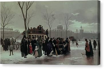 Paris Bus Accident Canvas Print