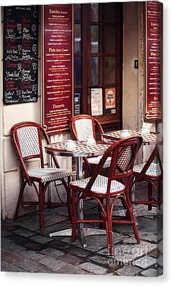 Paris Cafe Canvas Print by John Rizzuto