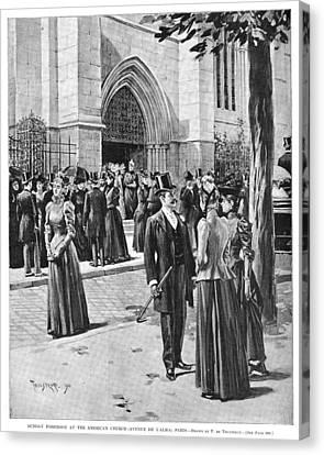 Paris Church, 1890 Canvas Print by Granger