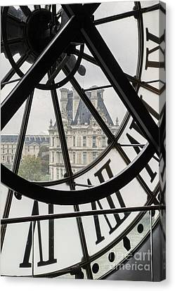 Paris Clock Canvas Print by Brian Jannsen