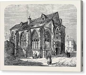 Paris Demolitions Ancient Church Of St Canvas Print by English School