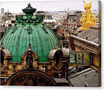 Paris Drizzles Canvas Print