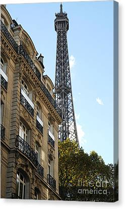 Paris Eiffel Tower Canvas Print by Haleh Mahbod