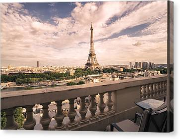 Paris - Eiffel Tower Canvas Print by Vivienne Gucwa