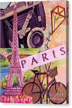 Canvas Print featuring the drawing Paris  by Eloise Schneider