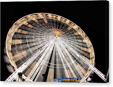 Paris Ferris Wheel Canvas Print by Matthew Bamberg