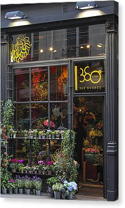 Paris Flower Shop Canvas Print by Glenn DiPaola