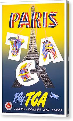 Paris Fly Tca Canvas Print by David Wagner