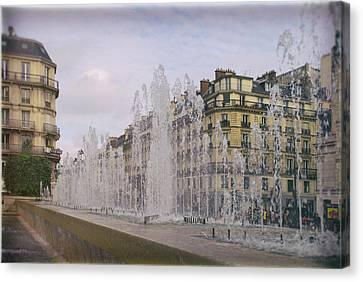 Paris Fountain Canvas Print by Georgia Fowler