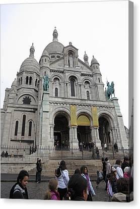 Paris France - Basilica Of The Sacred Heart - Sacre Coeur - 12121 Canvas Print by DC Photographer