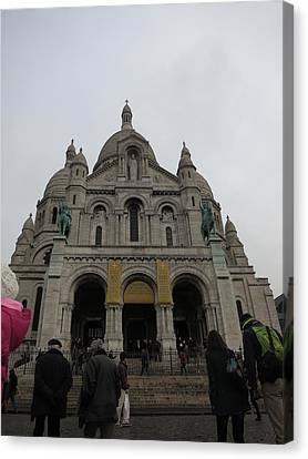 Paris France - Basilica Of The Sacred Heart - Sacre Coeur - 12124 Canvas Print by DC Photographer