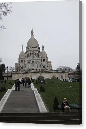 Paris France - Basilica Of The Sacred Heart - Sacre Coeur - 12128 Canvas Print by DC Photographer