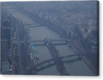 Paris France - Eiffel Tower - 011311 Canvas Print by DC Photographer