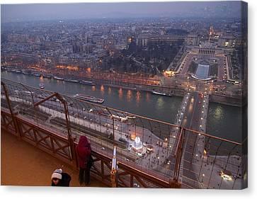 Paris France - Eiffel Tower - 011317 Canvas Print by DC Photographer