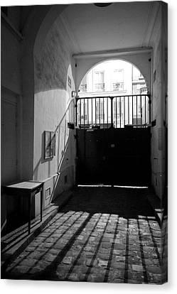 Paris, France, Limit Of The Gated Canvas Print