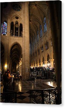 Paris France - Notre Dame De Paris - 011310 Canvas Print by DC Photographer