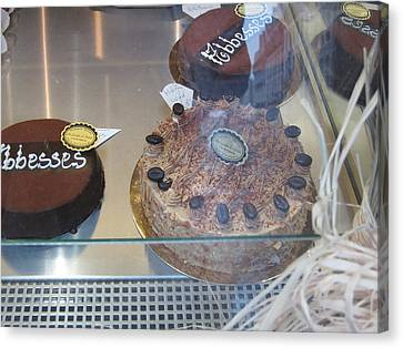 Chocolate Canvas Print - Paris France - Pastries - 121213 by DC Photographer