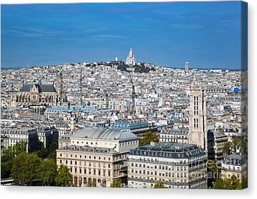 Paris France Sacre-coeur Basilica Canvas Print by Michal Bednarek
