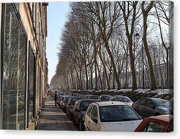 Tables Canvas Print - Paris France - Street Scenes - 011318 by DC Photographer