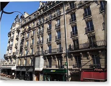 Paris France - Street Scenes - 011321 Canvas Print by DC Photographer