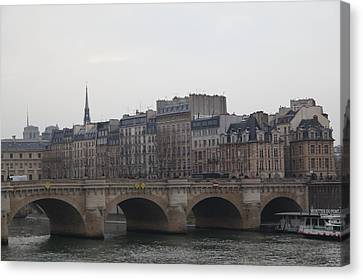 Paris France - Street Scenes - 011343 Canvas Print by DC Photographer