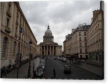 Tables Canvas Print - Paris France - Street Scenes - 011389 by DC Photographer