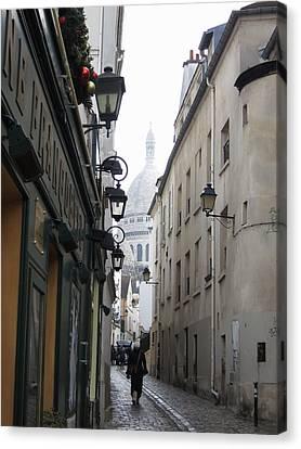 Tables Canvas Print - Paris France - Street Scenes - 121216 by DC Photographer
