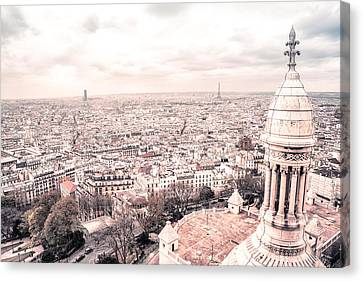Paris From Above - View From Sacre Coeur Basilica Canvas Print by Vivienne Gucwa