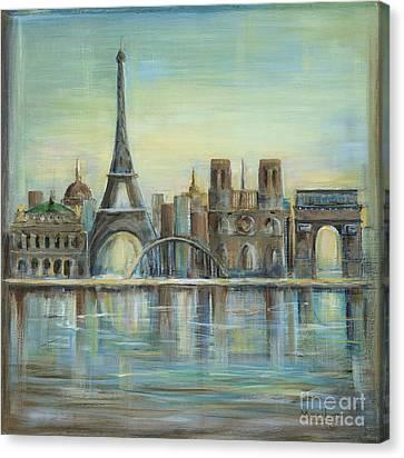 Eiffel Tower Canvas Print - Paris Highlights by Marilyn Dunlap