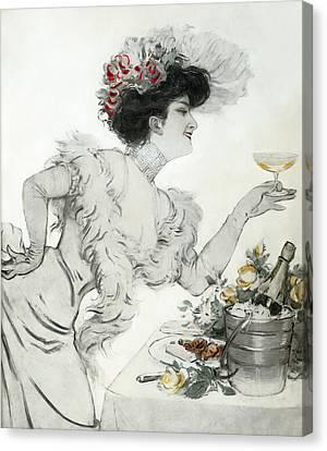 Paris Holiday  1904 Canvas Print by Daniel Hagerman