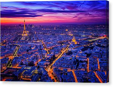 Paris I Canvas Print by Juan Pablo De