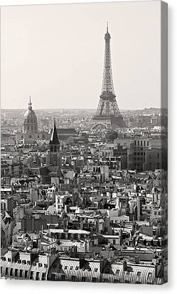 Paris In Black And White Canvas Print