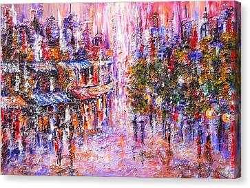 Paris In Pink Canvas Print