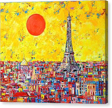 Paris In Sunlight Canvas Print by Ana Maria Edulescu