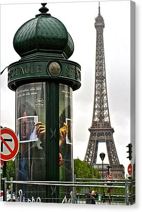 Canvas Print featuring the photograph Paris by Ira Shander