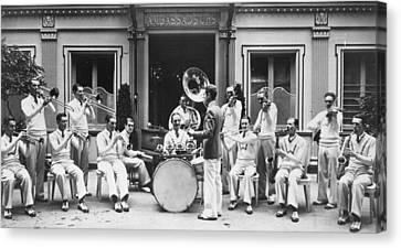 Tubist Canvas Print - Paris Jazz Band, 1928 by Granger