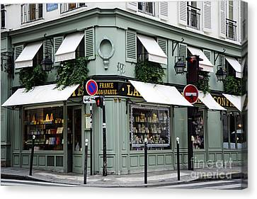 Paris Laduree Macaron French Bakery Patisserie Tea Shop - Laduree Bonaparte - The Laduree Patisserie Canvas Print by Kathy Fornal