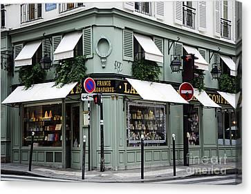 Patisserie Canvas Print - Paris Laduree Macaron French Bakery Patisserie Tea Shop - Laduree Bonaparte - The Laduree Patisserie by Kathy Fornal