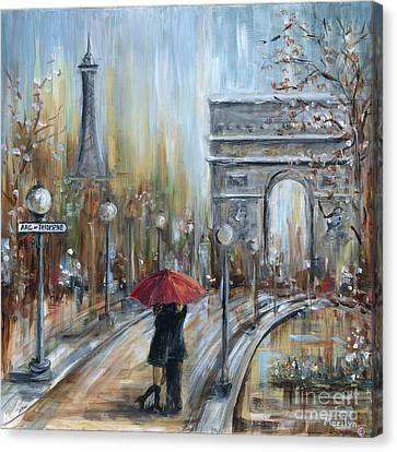 Paris Lovers II Canvas Print by Marilyn Dunlap