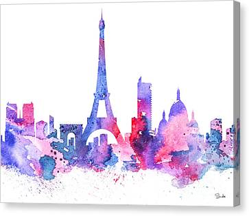Paris Canvas Print by Watercolor Girl